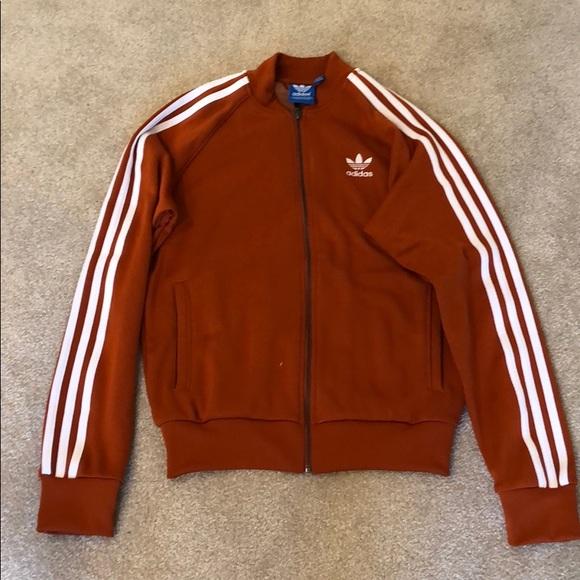 Adidas Originals Superstar Track Top Rust Orange